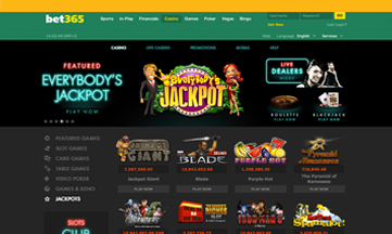 Bet 365 casino jackpot games