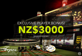NZ$3000 Deposit Bonus Casino Tropez