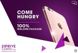 21 Prive 100% Welcome Package For Mobile Players