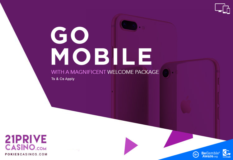 21Prive great Welcome Package For Mobile Players