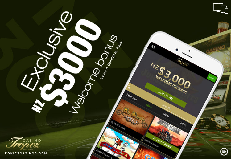 Casino Tropez Mobile Gaming Website