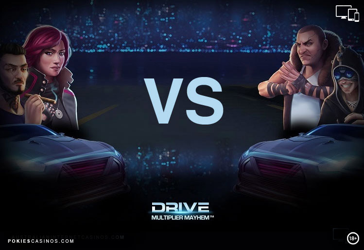 Drive Multiplayer Mayhem Pokie By NetEnt