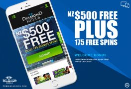 Diamond Reels Mobile Casino Welcome Package Offer