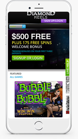 Diamond Reels Casino mobile play