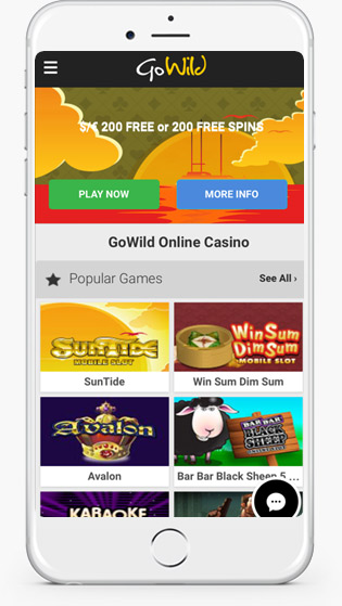go wild casino mobile play