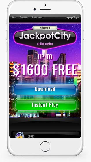 Jackpot City mobile play