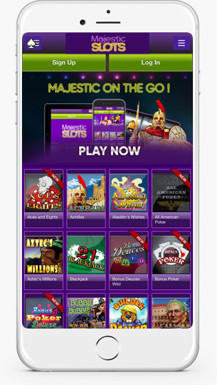 Majestic Slots casino mobile play
