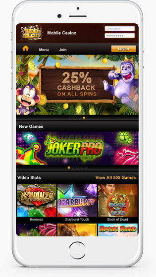 Video Slots mobile play