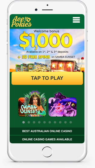 Ace Pokies Casino mobile play