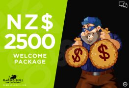 Raging Bull Online Casino With NZ$2500 Welcome Package