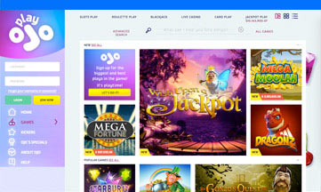 Play OJO Casino website