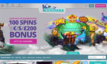 Karamba Casino website