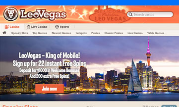 Leo Vegas casino website