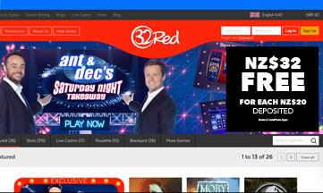 32 red casino website