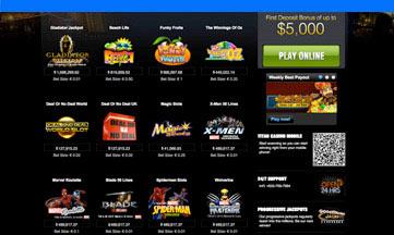 Titan Casino jackpot games
