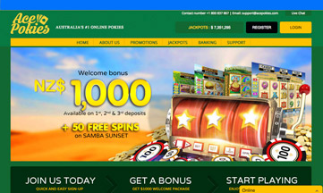 Ace Pokies Casino website
