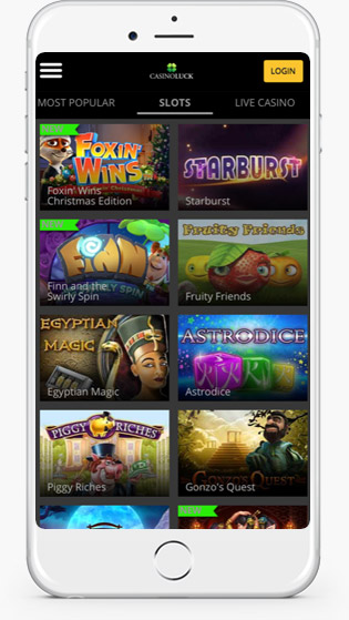 Casino Luck Mobile jackpot games