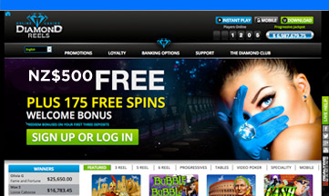 Diamond Reel Casino website