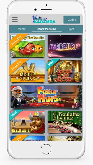 Karamba casino jackpot games