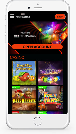 Next Casino website