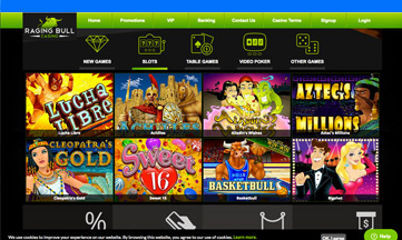 Raging Bull casino jackpot games