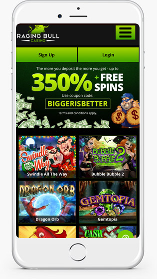 Raging Bull casino website