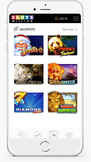 Slots Million Mobile Casino jackpot games