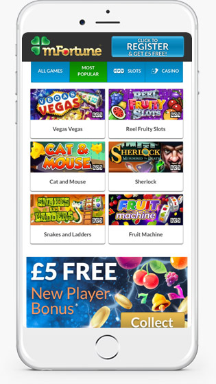 mFortune Mobile casino jackpot games