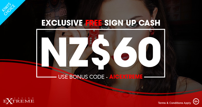 Casino Extreme Exclusive Free Cash Bonus
