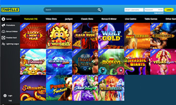 Thrills Casino featured pokie games