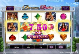 Dream Date Free Spins Pokie
