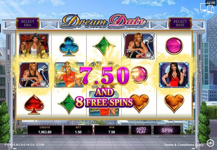Dream Date Free Spins Pokie