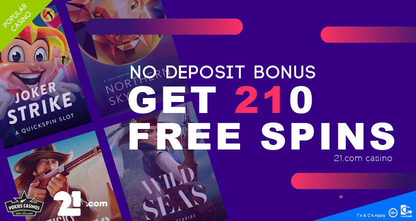 Top No Deposit Bonus 210 free spins