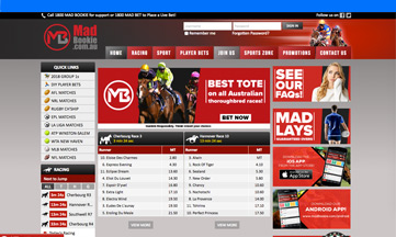 Mad Bookie official website