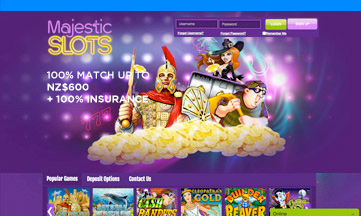 Majestic Slots casino website