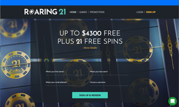 Roaring 21 Casino official website