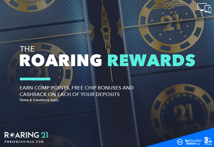 roaring21 casino rewards