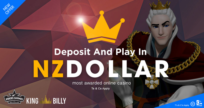 king billy NZ dollar playing casino online