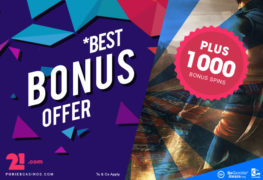 1000 Bonus Spins on 21 dot com casino