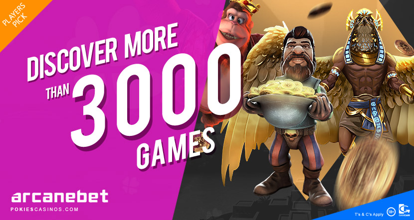 play the biggest selection of casino games at arcanebet casino