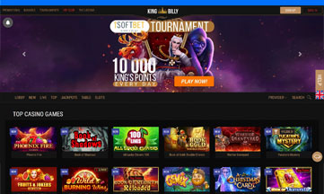 King Billy Casino official website