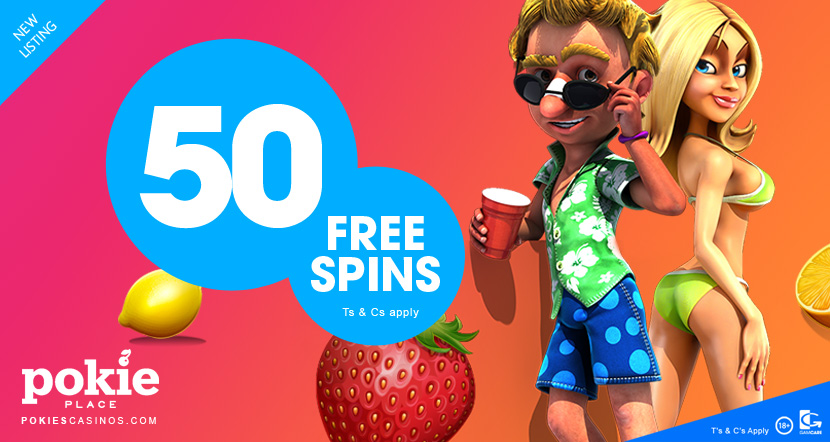 new players take away 50 free pokie spins at pokie place casino