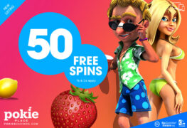 play with 50 free spins from pokie place casino