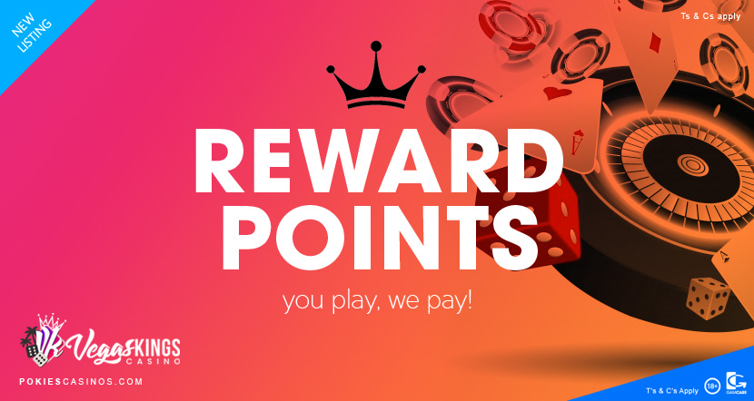 vegaskings casino reward points as a new player